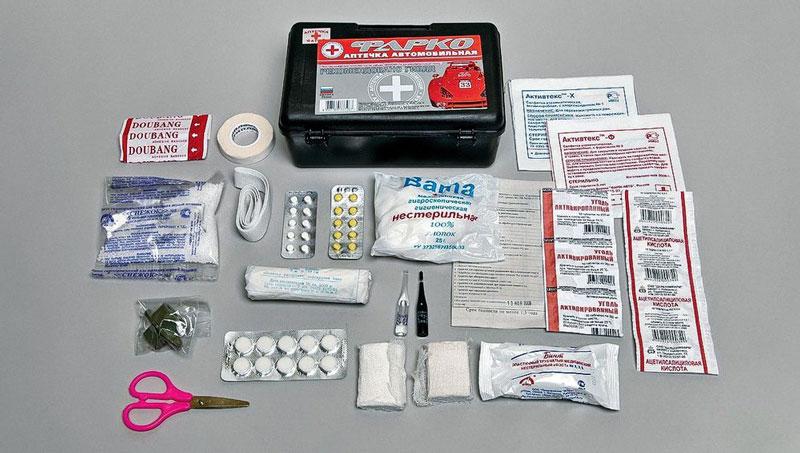 Состав аптечки в машину
