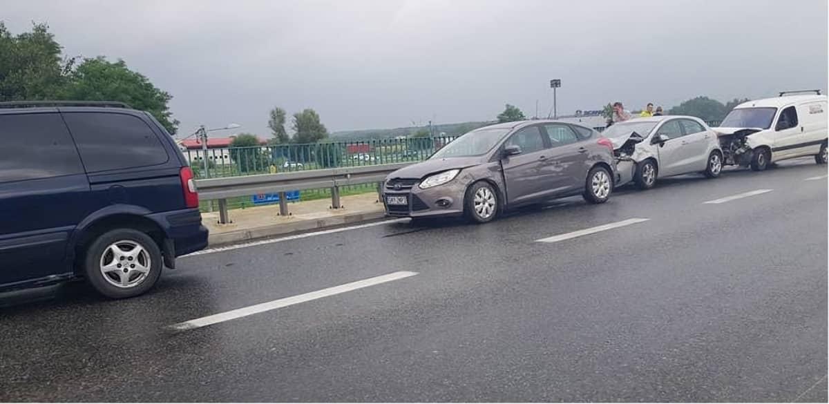 Результат не соблюдения безопасной дистанции на дороге